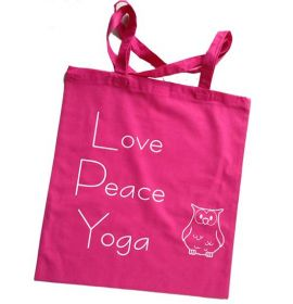 Love Peace Yoga Stofftasche